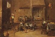 David Teniers Mokeys in a Tavern oil painting picture wholesale