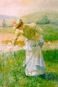 De Scott Evans Picking Wildflowers oil painting picture wholesale