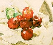 Demuth, Charles Still Life with Apples and a Green Glass oil
