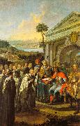 Dorfmeister, Istvan Bla III Founding the Cistercian Monastery at Szentgotthrd in 1183 oil painting picture wholesale