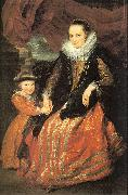 Dyck, Anthony van Susanna Fourment and her Daughter oil painting picture wholesale