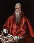 El Greco Saint Jerome as a Cardinal oil painting picture wholesale