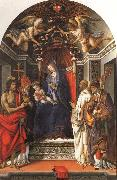 Filippino Lippi Madonna and Child Enthroned with SS.John the Baptist,Victor,Ber-nard,and Zenbius oil painting picture wholesale