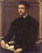 Francesco Salviati Portrait of a Gentleman with a Letter oil painting artist