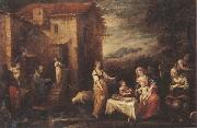Francisco Antolinez y Sarabia The rest on the flight into egypt oil painting artist