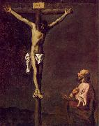 Francisco de Zurbaran Saint Luke as a Painter before Christ on the Cross oil painting picture wholesale