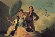 Francisco de goya y Lucientes The Parasol oil painting artist