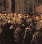 Francisco de herrera the elder St.Bonaventure Receiving the Habit of St.Francis oil painting artist