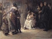 Frank Holl Newgate-Committed for trial oil painting reproduction
