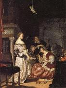 Frans van Mieris The Painter with His Family oil painting artist