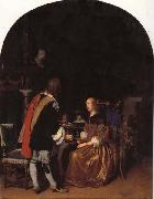 Frans van mieris the elder Refresbment with Oysters oil painting picture wholesale