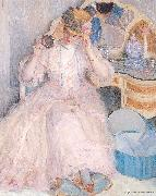 Frieseke, Frederick Carl Lady Trying On a Hat oil painting picture wholesale