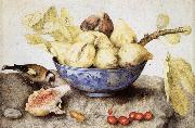 Giovanna Garzoni Chinese Cup with Figs,Cherries and Goldfinch oil painting picture wholesale