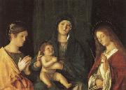 Giovanni Bellini Madonna and Child Between SS.Catherine and Ursula oil painting picture wholesale