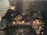 HEUSSEN, Claes van Fruit and Vegetable Seller oil painting picture wholesale