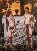 Hans Thoma Adam and Eve oil painting artist