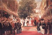 Henry Courtnay Selous The Opening Ceremony of the Great Exhibition,I May 1851 oil painting picture wholesale