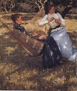 Henry Herbert La Thangue In the Orchard oil painting picture wholesale