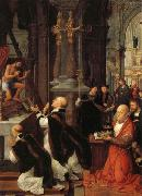 Isenbrandt, Adriaen The Mass of St.Gregory oil painting artist