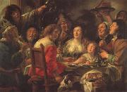 Jacob Jordaens The King Drinks Celebration of the Feast of the Epiphany oil painting picture wholesale