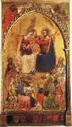 Jacopo Di Cione The Coronation of the Virgin wiht Prophets and Saints oil painting artist