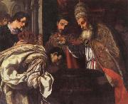 Jacopo Vignali St.Silvester,Pope,Baptizes the Emperor Constantine oil painting picture wholesale
