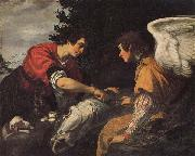 Jacopo Vignali Tobias and the Angel oil painting artist