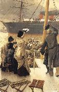 James Tissot Good-bye-On the Mersey oil painting picture wholesale