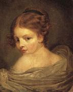 Jean Baptiste Greuze Young Woman Seen from the Back oil painting picture wholesale