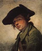 Jean-Baptiste Greuze A Young Man in a Hat oil painting artist
