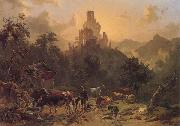 Johann Nepomuk Rauch Landscape with Ruins oil painting picture wholesale