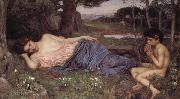 John William Waterhouse Listening to My Sweet Piping oil painting picture wholesale