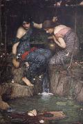 John William Waterhouse Nymphs Finding the Head of Orpheus oil painting picture wholesale