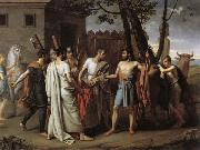 Juan Antonio Ribera Y Fernandez Cincinnatus Leaving the Plough to Bring Law to Rome oil painting artist