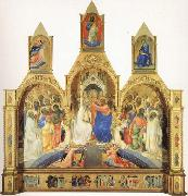 Lorenzo Monaco The Coronation of the Virgin with Saints and Angels The Annunciation and The Blessing Redeemer oil painting picture wholesale