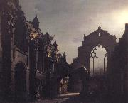 Luis Daguerre The Ruins of Holyrood Chapel,Edinburgh Effect of Moonlight oil painting picture wholesale