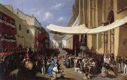 Manuel Cabral Y Aguado Bejarano Corpus Christi Procession in Sevill oil painting picture wholesale