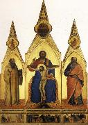 Nardo di Cione The Trinity and SS.Romuald and john the Evangelist Three Stories from the Life ofSt.Romuald oil painting picture wholesale