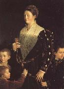 PARMIGIANINO Portrait of the Countess of Sansecodo and Three Children oil painting picture wholesale