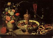 PEETERS, Clara Still life with Vase,jug,and Platter of Dried Fruit oil painting artist