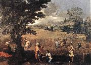 POUSSIN, Nicolas Summer (Ruth and Boaz) oil painting picture wholesale