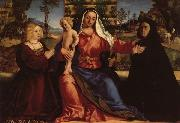 Palma Vecchio Madonna and Child with Commissioners oil painting picture wholesale