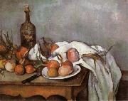 Paul Cezanne Onions and Bottle oil painting picture wholesale