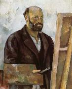 Paul Cezanne Autoportrait a la palette oil painting picture wholesale