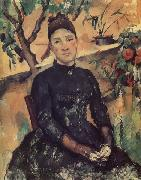 Paul Cezanne Madame Cezanne in the Conservatory oil painting picture wholesale