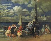 Pierre Renoir Return of a Boating Party oil painting picture wholesale