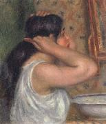 Pierre Renoir The Toilette Woman Combing Her Hair oil painting picture wholesale