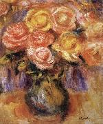 Pierre Renoir Vase of Roses oil painting on canvas