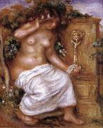 Pierre Renoir The Bather at the Fountain oil painting reproduction