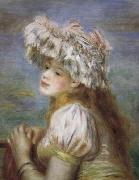Pierre Renoir Young Girl in a Lace Hat oil painting picture wholesale